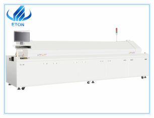 Top Lead Free SMT Reflow Oven High Precision Temp Control With Ten Heating Zones
